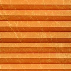 Шторы «Plisse». Ткань «Краш» светло-оранжевый.